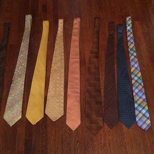 9 Set ties Different Brands